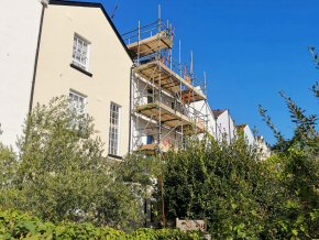 Rendering works at Belmont Road, Exeter (2 photos)
